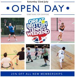 Tennis & Squash Club Open Day @ Crowborough Tennis & Squash Club | England | United Kingdom