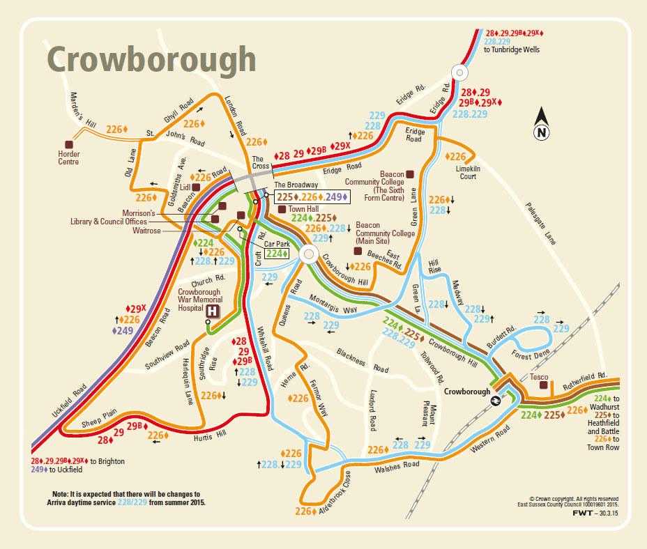 Crowborough-Bus-Map