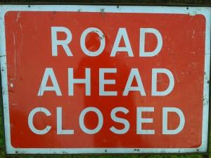 Road-Ahead-Closed-sign