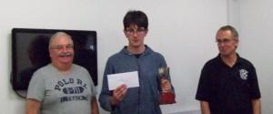 Ian Snape and Matthew Payne with the Joe Berberich Cup (presented by John Kemp)