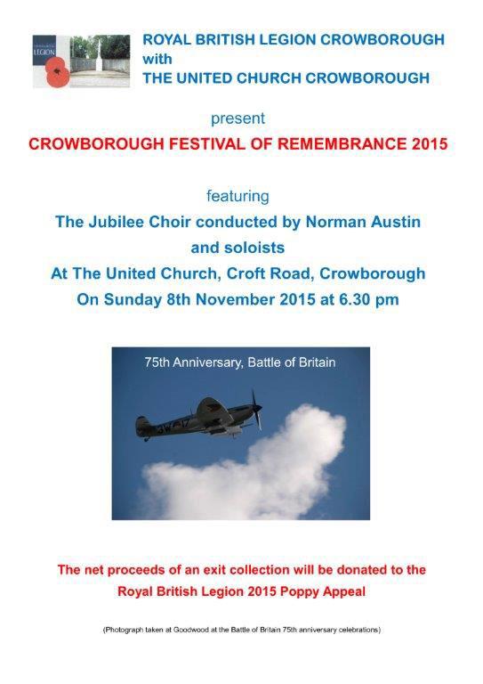 Remembrance Crowborough 8 November 2015 Crowborough