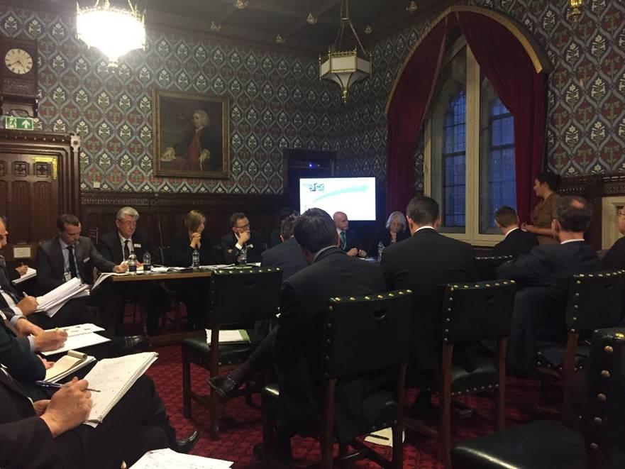 Nus Ghani speaking at this afternoon's meeting