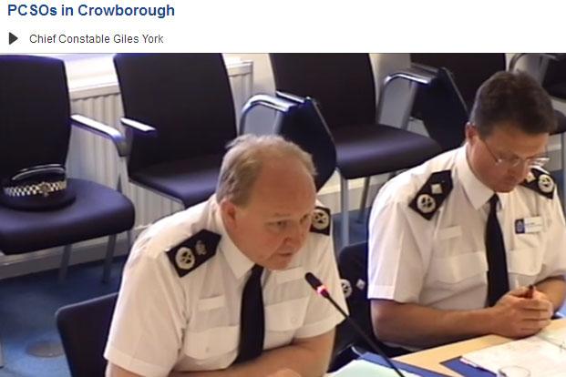 Sussex Police Chief Constable Giles York