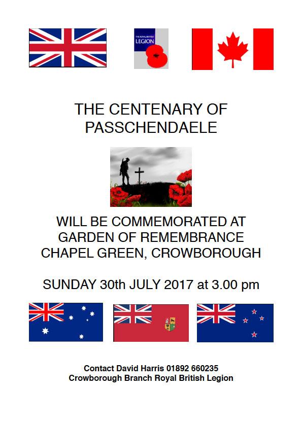 Centenary of the Battle of Passchendaele - Crowborough Life