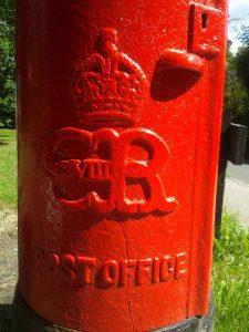 King Edward VIII post box in Crowborough