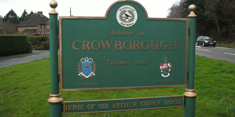 Crowborough Town Sign