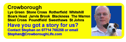 Crowborough and the surrounding villages of Blackness, Boars Head, Hurtis Hill, Jarvis Brook, Lye Green, Poundfield, Rotherfield, St Johns, Steel Cross, Steep, Stone Cross, Sweethaws, The Warren and Whitehill