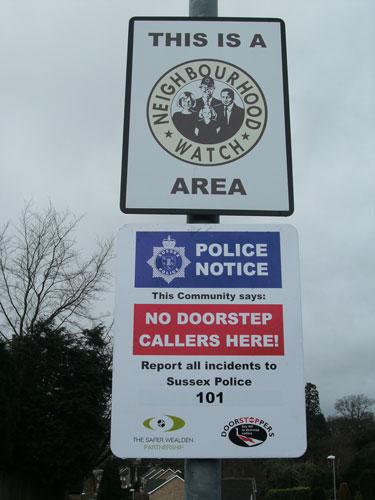 Signs Southridge Rise Crowborough