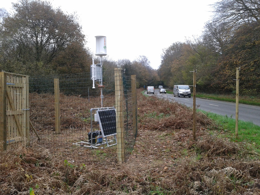 New Monitoring station adjacent to the A26 at Poundgate, Crowborough