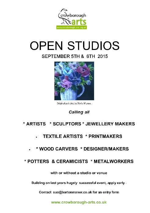 Crowborough Arts Open Studios 5th and 6th September 2015