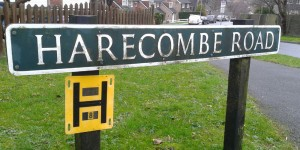 Harecombe Road in Crowborough Fire Hydrant Sign
