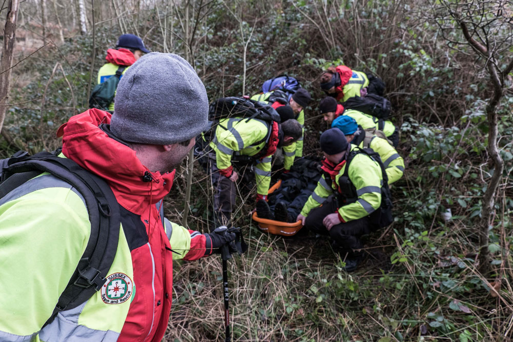 Search and Rescue exercise Ashdown Forest Sussex
