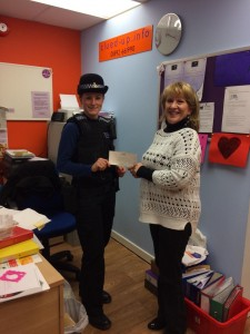 Lorna Watson, manager of Clued-up.info and Crowborough PCSO Hannah William