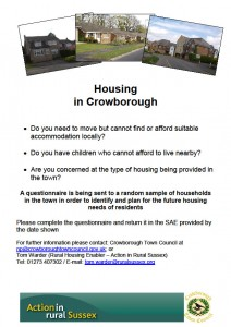 Crowobrough Housing Needs Survey Poster