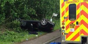 Crash A26 Eridge Road between Crowborough and Tunbridge Wells