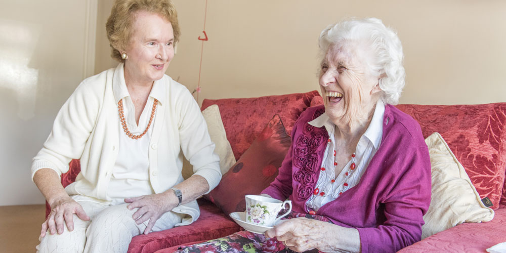 Good Neighbours Scheme Volunteer Jennifer McInness with Audrey Mark Fort