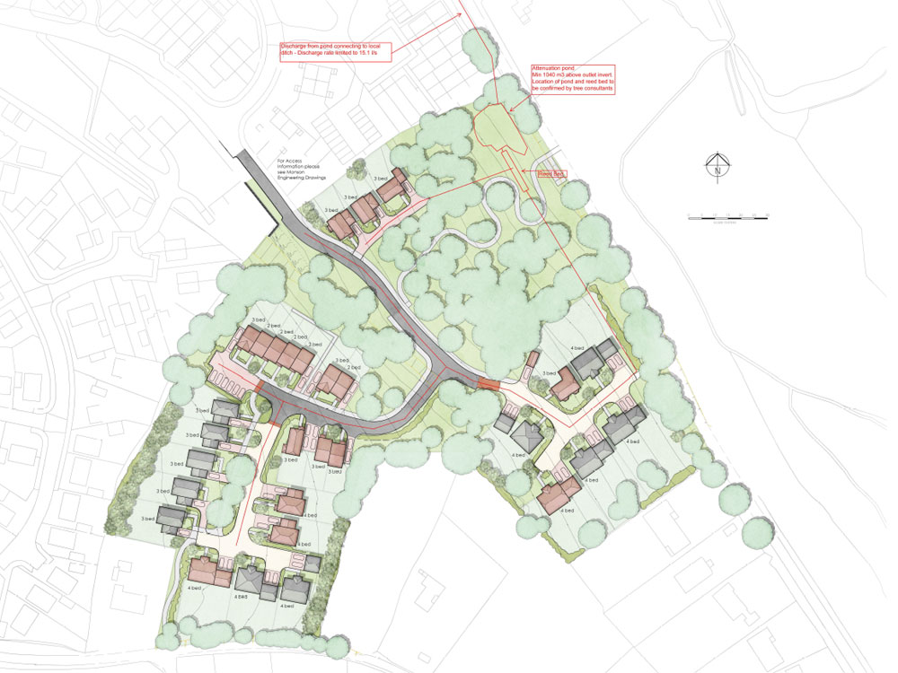 Tollwood Road Residential Development Crowborough application for 29 houses (Weaden District Council reference: WD/2015/2272/MAO)