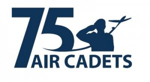 Air Cadets 75 Years logo