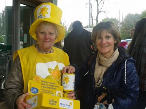 Marie Curie collection March 2016 Crowborough Waitrose Anita Edwards