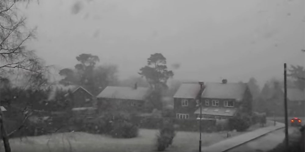 Snow 2nd March 2016 in Crowborough
