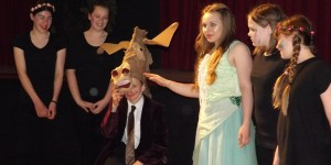 Jake Davison (Bottom) and Kirsty Gandar (Titania) Beacon Academy Midsummer Night's Dream