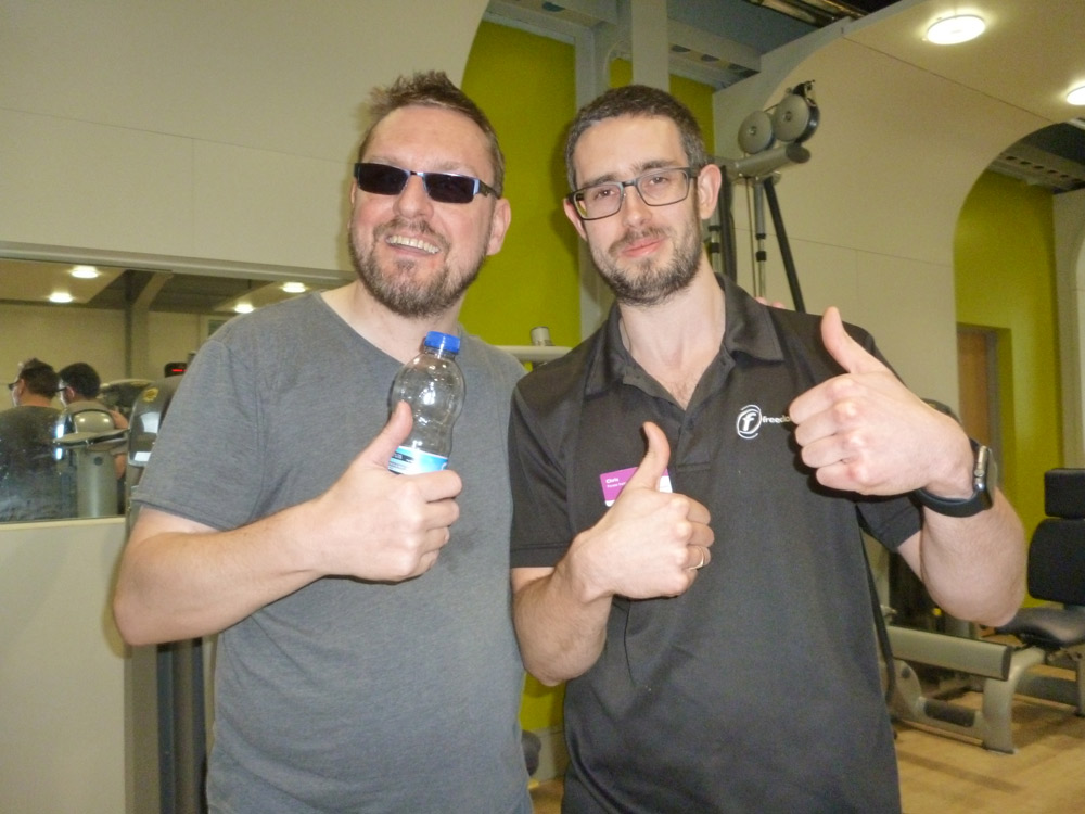Paul Millross with personal trainer Chris Willett