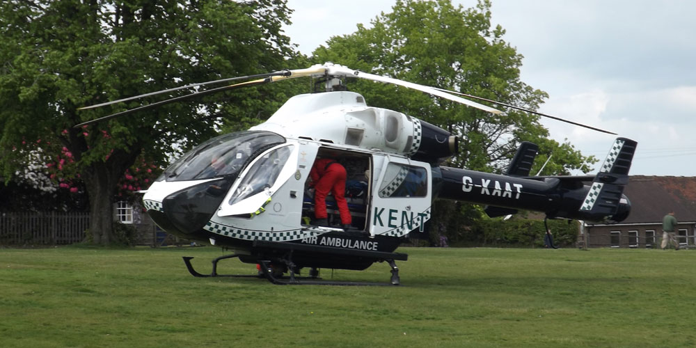 Air Ambulance Chapel Green Crowborough May 2016
