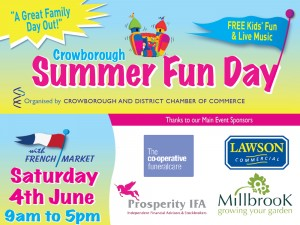 Crowborough Summer Fun Day Saturday 4th June 2016