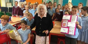 AliceAshby 101 years old visits her old school Mark Cross