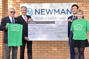 Newman Business Solutions in Crowborough raises £5,000 for Hospice in the Weald