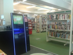 Crowborough Library self-service machine
