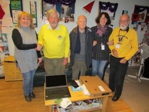 Crowborough Lions present Clued-up.info, the advice & information drop in centre for young people in Crowborough, with a laptop