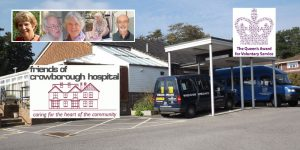 Friends of Crowborough Hospital recognised with the Queen's Award for Voluntary Service