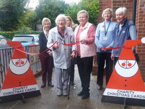 "Hope Hill, 98-year old volunteer with ""Cards for Good Causes"" Crowborough"