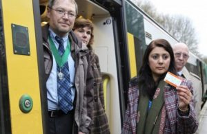 Nus Ghani MP trains