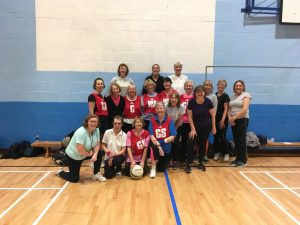 walking netball teams Crowborough and Eastbourne