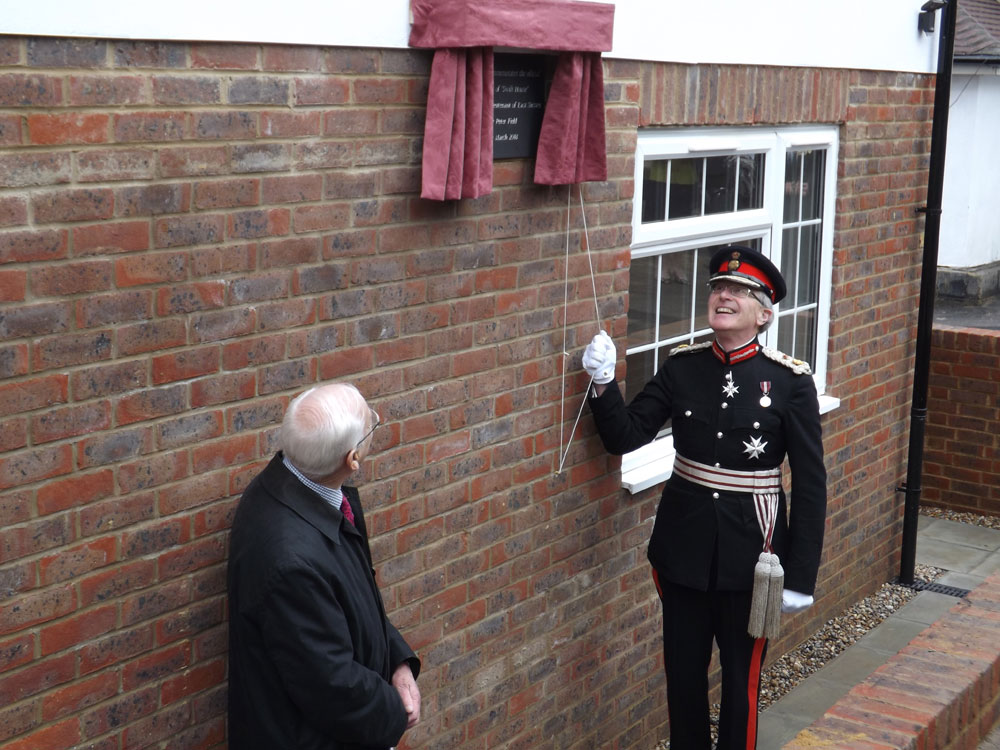 """Swift House"" new almhouse in Crowborough official opening Lord Lieutenant of East Sussex, Mr Peter Field"