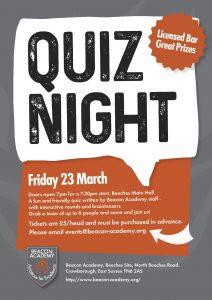 Beacon Academy Quiz Night @ Beacon Academy | England | United Kingdom