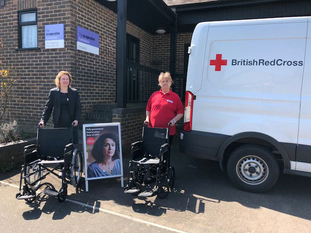 British Red Cross mobility aid loan service in Crowborough