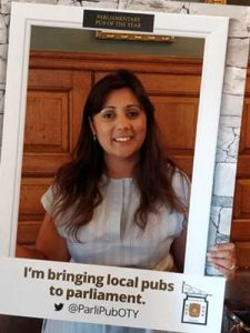 Nus Ghani Wealden MP is wanting her constituents to nominate their favourite pub for the Parliamentary Pub of the Year Awards