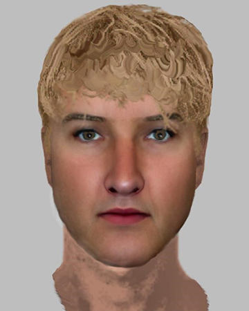 Police are hoping the efit image shown here may help to identify a man they wish to speak to in connection with indecent behaviour in Hargate Forest, on the Sussex-Kent border just south of Broadwater Down, Tunbridge Wells.