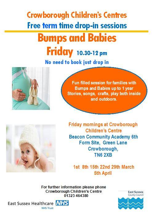 Babies & Bumps Crowborough Children's Centre Fridays March 2019