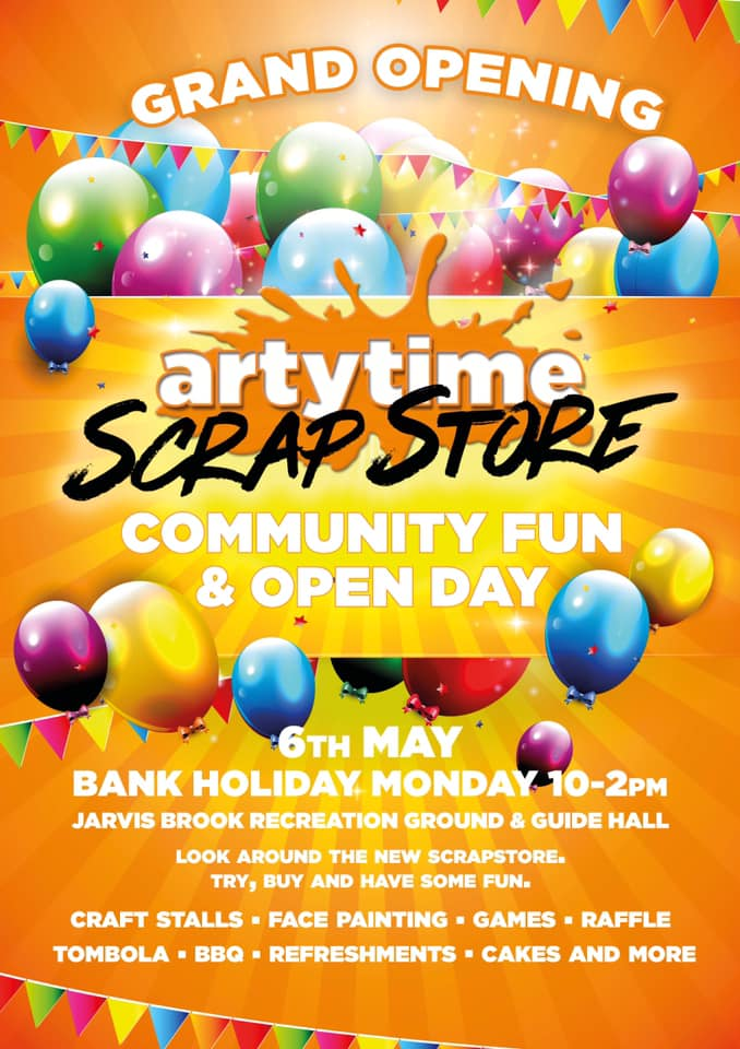Grans Opening of Artytime's new Scrapstore in Jarvis Brook on Bank Holiday Monday 6th May 2019