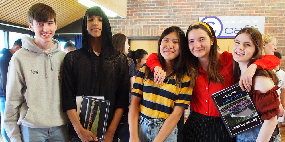 Crowborough's Beacon Academy students celebrate