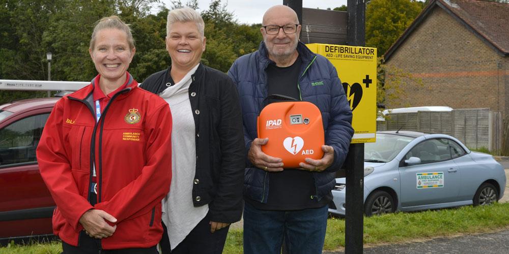 New Defibrillator in Alderbrook