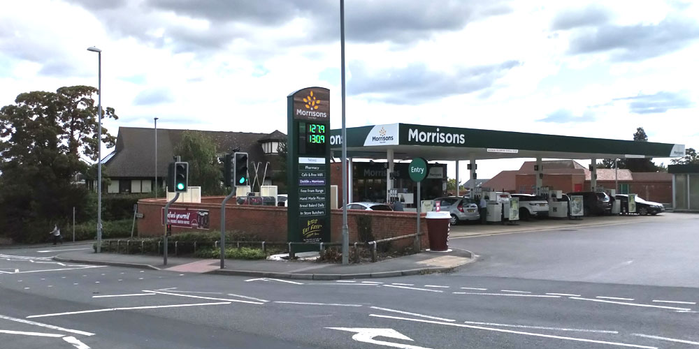 "Morrisons new ""totem"" sign"