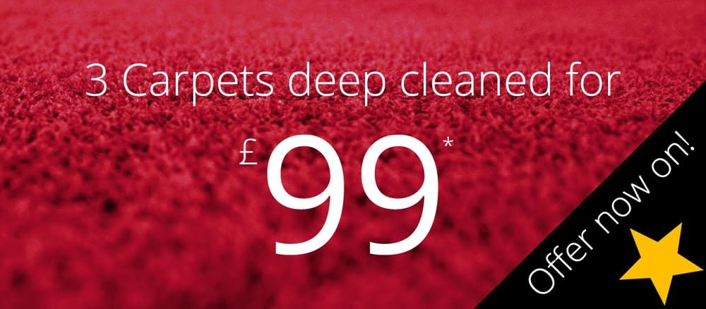 3 carpets deep cleaned for £99.  Offer now on!