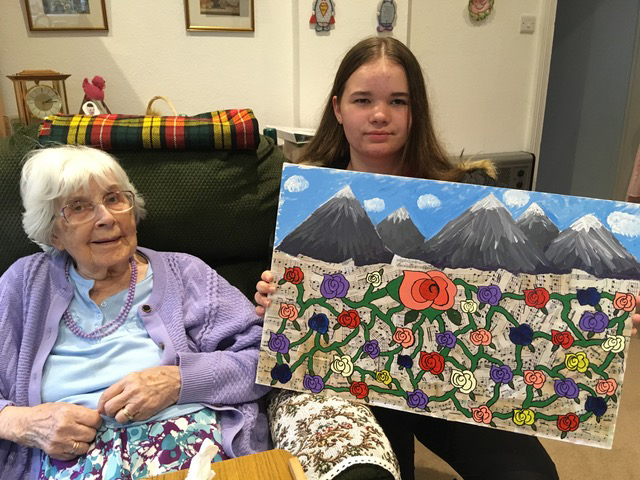 Inter-generational art project