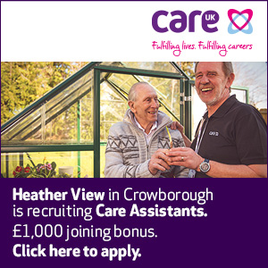 Heather View in Crowborough is recruiting Care Assistants. £1,000 joining bonus. Click to apply.