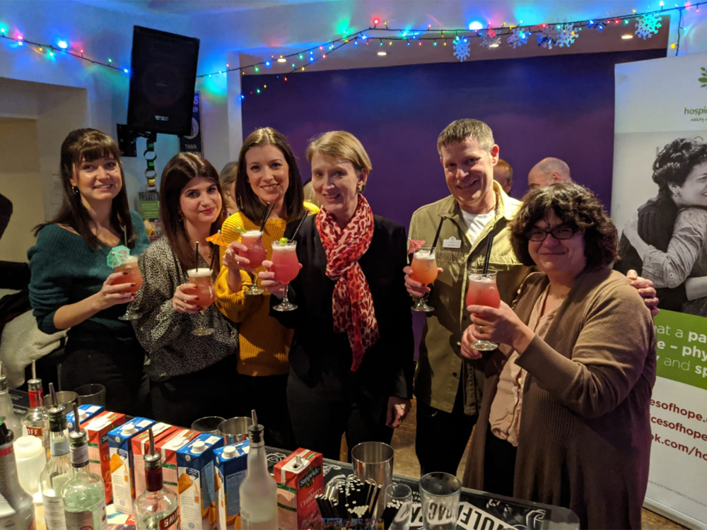 Hospices of Hope held its first ever cocktail making event in Bar Trend, Crowborough on Thursday 5th December 2019.